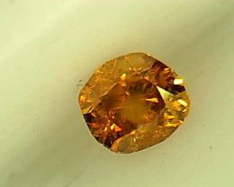 0.17ct Fancy Deep brownish Orange  Diamond , 100% Natural Untreated