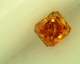 0.13ct Fancy Vivid yellowish Orange  Diamond , 100% Natural Untreated