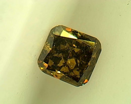 0.14ct Fancy deep brown Green Diamond , 100% Natural Untreated