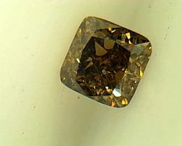 0.17ct Fancy Brown Diamond , 100% Natural Untreated