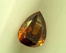 0.13ct Fancy Deep Orange Brown Diamond , 100% Natural Untreated