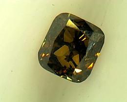 0.22ct Fancy Dark Brown Green Diamond , 100% Natural Untreated