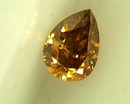 0.16ct Fancy Deep Yellow Brown  Diamond , 100% Natural Untreated