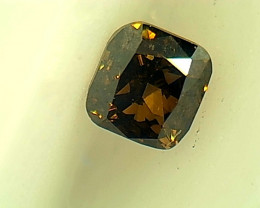 0.18ct Fancy Dark Brown Green Diamond , 100% Natural Untreated