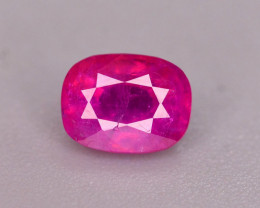 Untreated 0.55 Ct Gorgeous Color Natural Ruby From Afghanistan