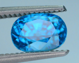 AAA Brilliance 5.18 ct Blue Zircon Cambodia SKU.9