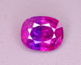 Tremendous Bi Color 0.75 Ct Natural Bluish Red Ruby