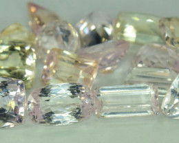 NR Auction - 64.95 Carats Lot Of Mix Cut Natural Peach Pink Color Kunzite