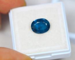 2.99ct Greenish Blue Kyanite Oval Cut Lot S50