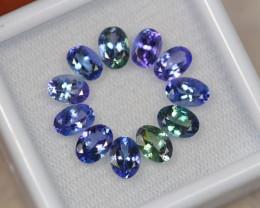 8.36ct Violet Blue Tanzanite Oval Cut Lot S48