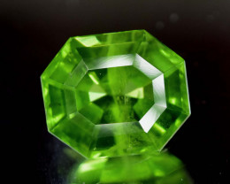 NR Auction ~ 7.10 Carats Spider Cut  Olivine Green Natural Peridot Gemstone