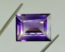 23.90 ~ Carats Emerald Cut Natural Amethyst Gemstone From Afghanistan