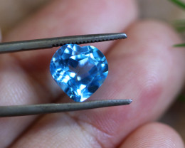 4.40 CTS   ELECTRIC BLUE TOPAZ  STUNNING  [GERMANY TREATED][S-SAFE200]