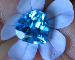 4.36 CTS   ELECTRIC BLUE TOPAZ  STUNNING  [GERMANY TREATED][S-SAFE201]