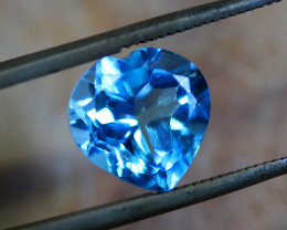4.38 CTS   ELECTRIC BLUE TOPAZ  STUNNING  [GERMANY TREATED][S-SAFE203]