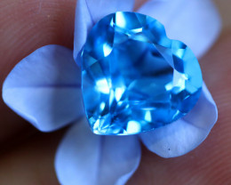 4.50 CTS   ELECTRIC BLUE TOPAZ  STUNNING  [GERMANY TREATED][S-SAFE204]