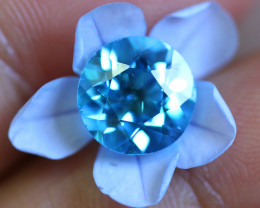 3.27 CTS   ELECTRIC BLUE TOPAZ  STUNNING  [GERMANY TREATED][S-SAFE209]