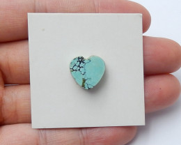 7cts lovely natural heart shape turquoise cabochon beads (A554)