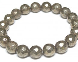 Faceted Pyrite Stone bracelet 8mm
