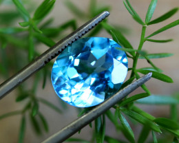 6.21 CTS ELECTRIC BLUE TOPAZ  STUNNING  [GERMANY TREATED][S-SAFE215]
