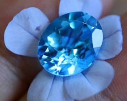 5.56 CTS ELECTRIC BLUE TOPAZ  STUNNING  [GERMANY TREATED][S-SAFE218]