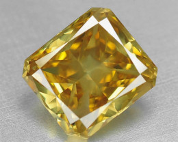 1.52 CTS FANCY VIVID ORANGY YELLOW COLOR NATURAL LOOSE  DIAMOND