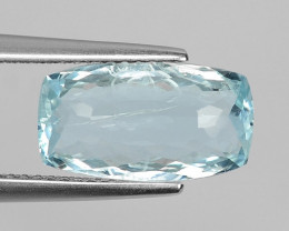 3.39 CT NATURAL AQUAMARINE GOOD CUT GEMSTONE AQ25