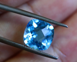 5.04 CTS ELECTRIC BLUE TOPAZ  STUNNING  [GERMANY TREATED][S-SAFE224]