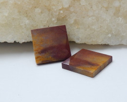 15.5cts wholesale natural mookite jasper square cabochon beads (A561)