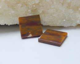 17.5cts wholesale natural mookite jasper square cabochon beads (A545)