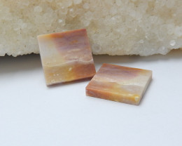 17.5cts 37cts wholesale natural mookite jasper square cabochon beads (A549)