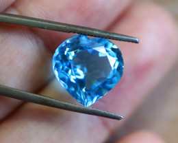 8.05 CTS ELECTRIC BLUE TOPAZ  STUNNING  [GERMANY TREATED][S-SAFE236]