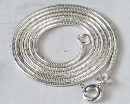 POPULAR SILVER SNAKE CHAIN  41 CM Long 16 inches   WS 601