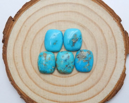 23cts Unique natural turquoise cabochon beads semi-gem (A525)