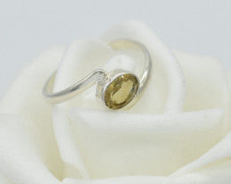 CERTIFIED  RING 925 STERLING SILVER CITRINE  NATURAL GEMSTONE JE1249