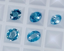 6CT BLUE ZIRCON PARCEL BEST QUALITY GEMSTONE IGC31