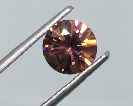 1.88 Carat VVS Zircon Peachy Pink Precision Cut Spectacular Flash !