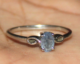Natural Tanzanite 925 Sterling Silver Ring Size (8 US) 8