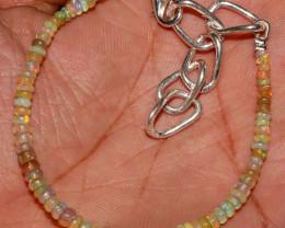 17 Crt Natural Ethiopian Welo Fire Opal Beads Bracelet 125
