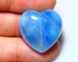 29.15cts Natural Heart Shape Aquamarine Cab