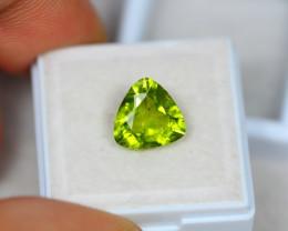3.30ct Green Peridot Trillion Cut Lot GW2806