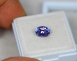 1.36Ct Violet Blue Tanzanite Oval Cut Lot LZ1548