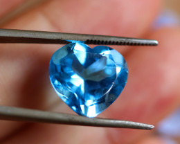 9.75 CTS ELECTRIC BLUE TOPAZ  STUNNING  [GERMANY TREATED][S-SAFE239]