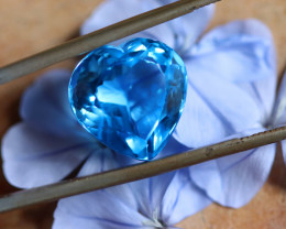 11.83 CTS ELECTRIC BLUE TOPAZ  STUNNING  [GERMANY TREATED][S-SAFE242]