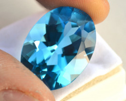 32.07 Carat Topaz -- Nice Swiss Blue Oval Cut Stone