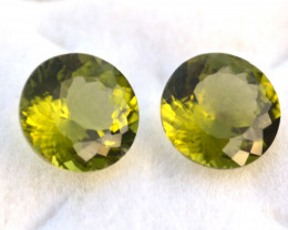 7.40 Carat Matched Pair of Top Quality Peridots