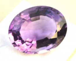 22.84 Carat Amethyst -- Top Quality Antique Oval Cut Stone