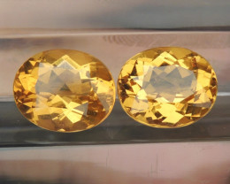7.44cts Yellow Beryl,  Clean,