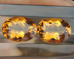 18.24cts Yellow Beryl,  Clean,