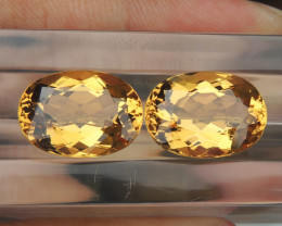 22.84cts Yellow Beryl,  Clean,